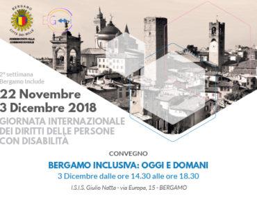 Convegno 3 dicembre BERGAMO INCLUSIVA: OGGI E DOMANI